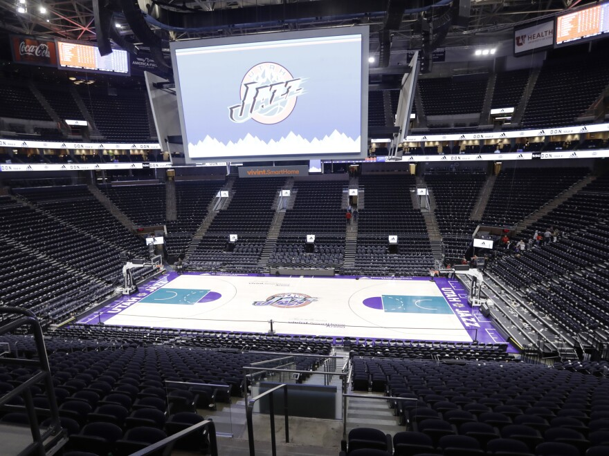 Vivent Smart Home Arena, home of the Utah Jazz, hasn't hosted the team since mid-March after Jazz center Rudy Gobert because the first active NBA player known to test positive for COVID-19.