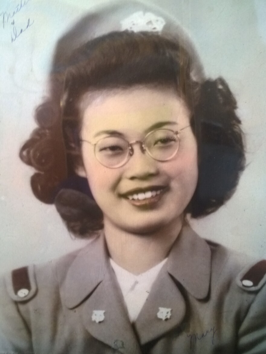 Mary Matsuda Gruenewald in her 1947 graduation photo from nursing school.