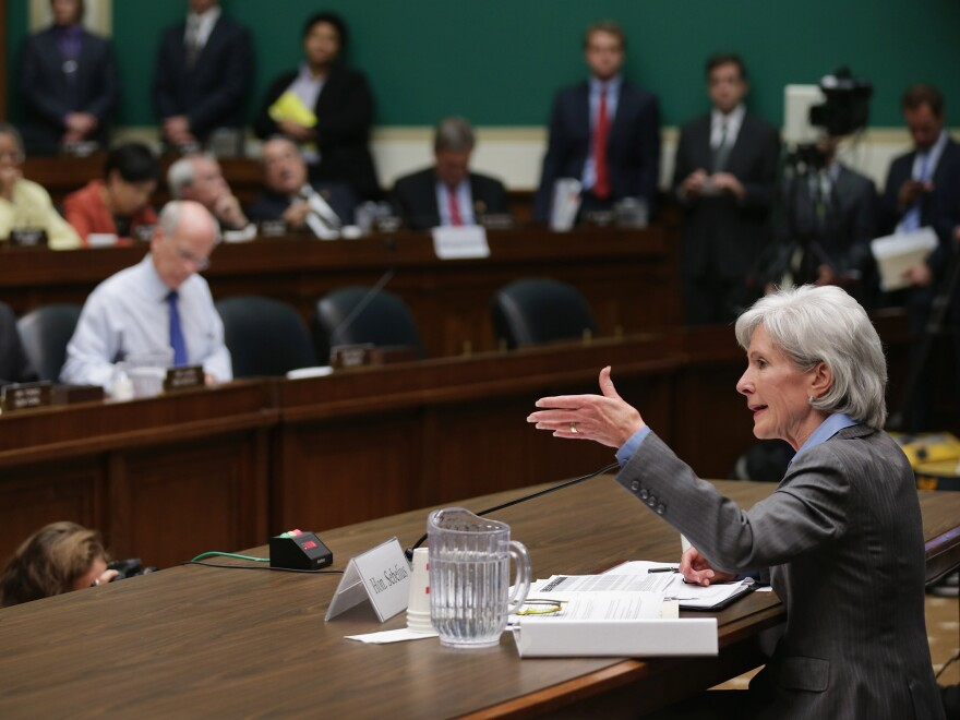 Sebelius testifies before the House Energy and Commerce Committee on Wednesday.