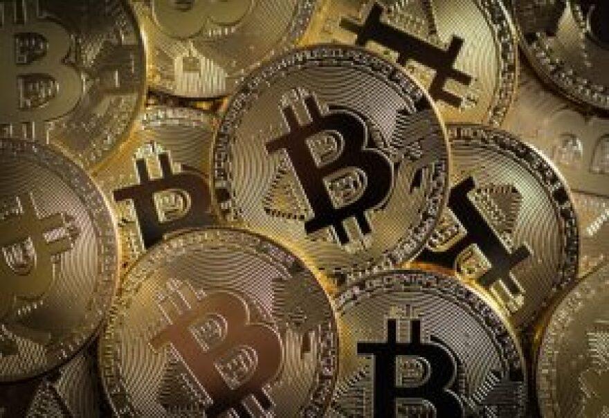 photo of bitcoin symbol