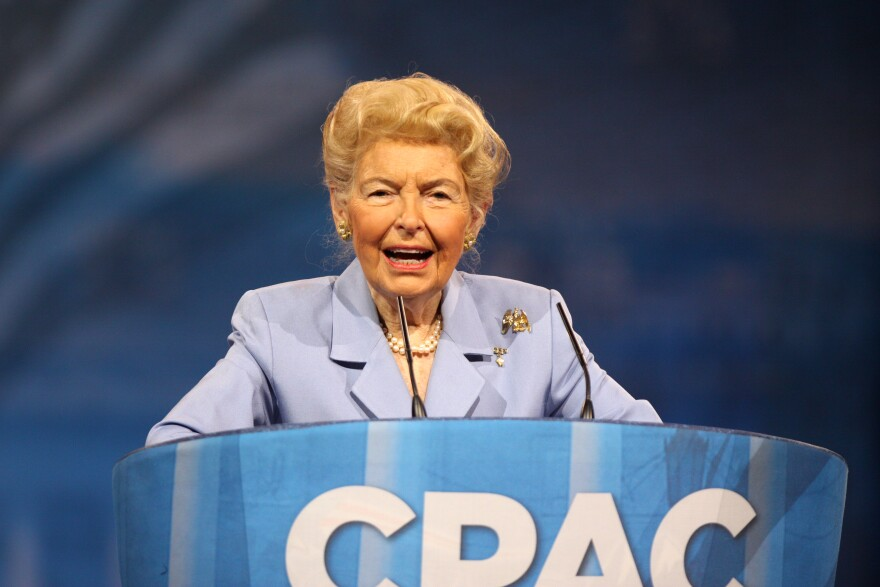 Phyllis Schlafly speaking at the 2013 Conservative Political Action Conference (CPAC) in National Harbor, Maryland.