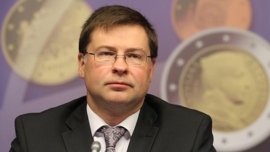 Latvian Prime Minister Valdis Dombrovskis.