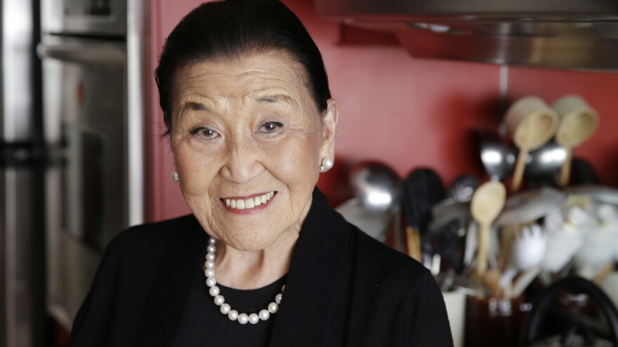 Cecilia Chiang poses in her kitchen in 2014. She told NPR that when she first arrived in the U.S., she was shocked by the food most Americans considered to be Chinese.