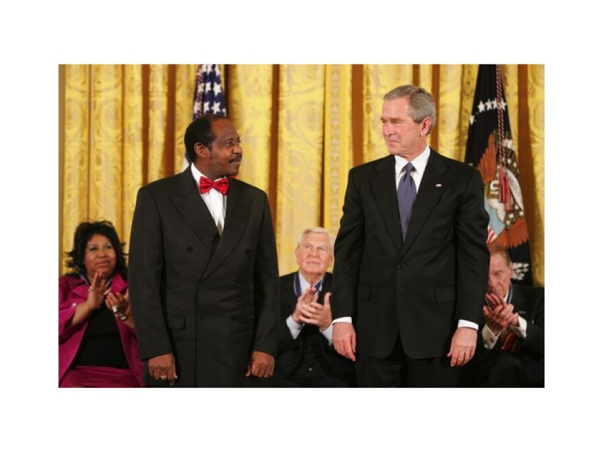 Paul Rusesabagina with President George W. Bush in 2005.