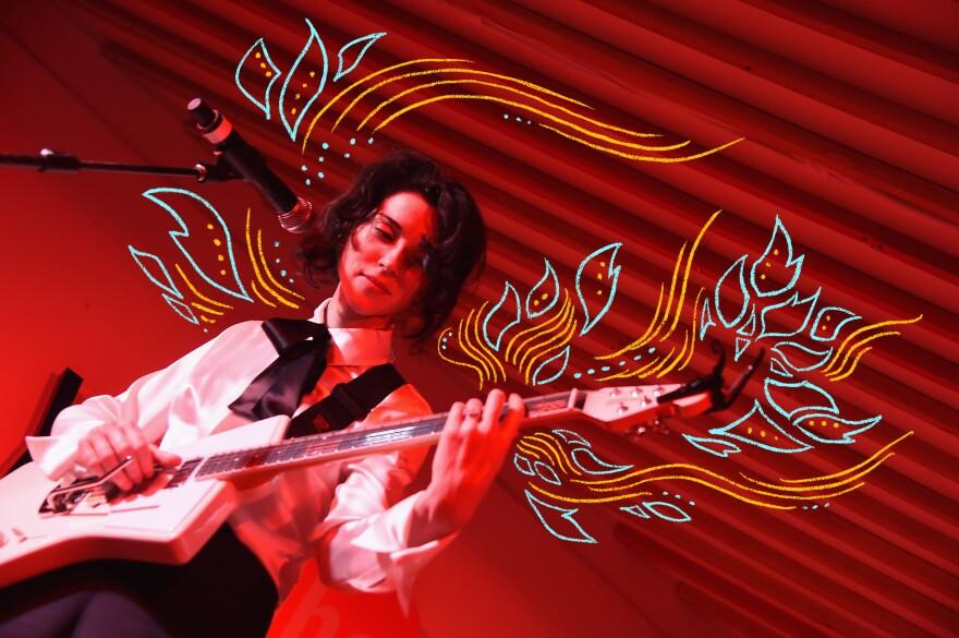 St. Vincent performs in Park City, Utah in 2017.