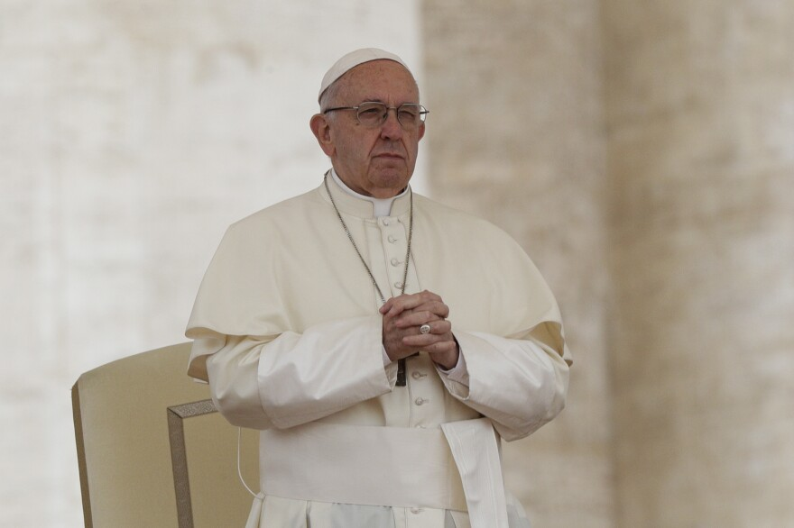 Pope Francis, shown here in May, has previously spoken out against the death penalty.