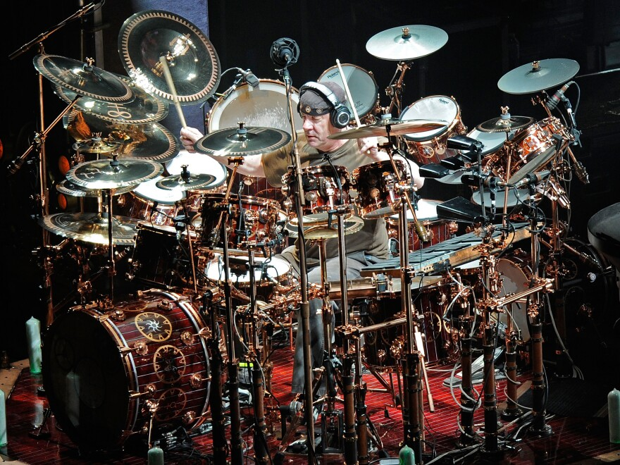 Neil Peart, photographed in his natural habitat on April 3, 2011 in Nashville.