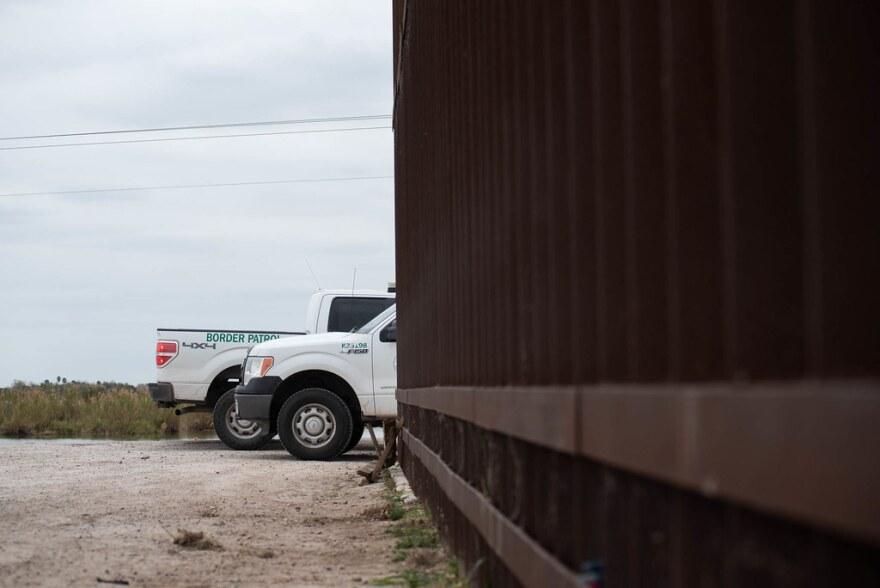 Border Patrol trucks