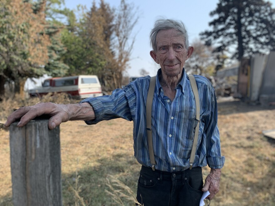 James Jacobs lost his home to the fire, and like many others, didn't have insurance.