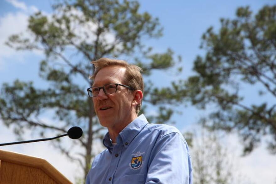 Greg Sheehan, Principal Deputy Director of the U.S. Fish and Wildlife Service, was in Gadsden County at the Joe Budd Youth Conservation Center March 20, 2018. Sheehan was awarding more than $26 million in grant funds to go toward land conservation in Florida.