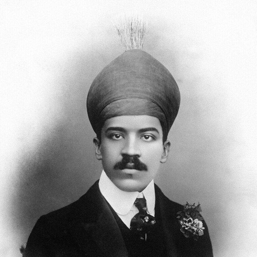 A portrait of the Nizam of Hyderabad, Osman Ali Khan. The seventh and last nizam ruled Hyderabad between 1911 and 1948, until it was merged back into independent India.