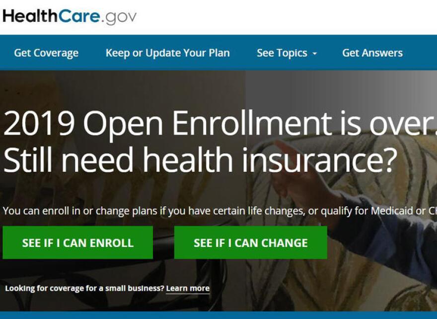 Enrollment page on Healthcare.gov