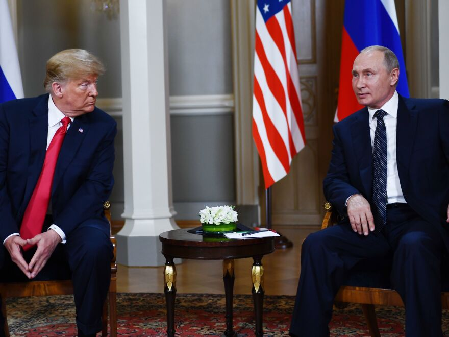 Russian President Vladimir Putin and President Trump brought an air of congeniality to their one-on-one meeting, which lasted about two hours, and the subsequent news conference.