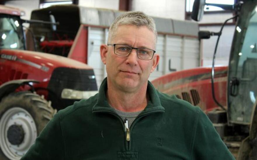 Ben Steffen grows corn, soybeans and wheat (as well as raising beef and dairy cattle) in Humboldt, Nebraska. Dairy has been a particularly weak spot for him: His revenue from milk dropped 20 percent last year.
