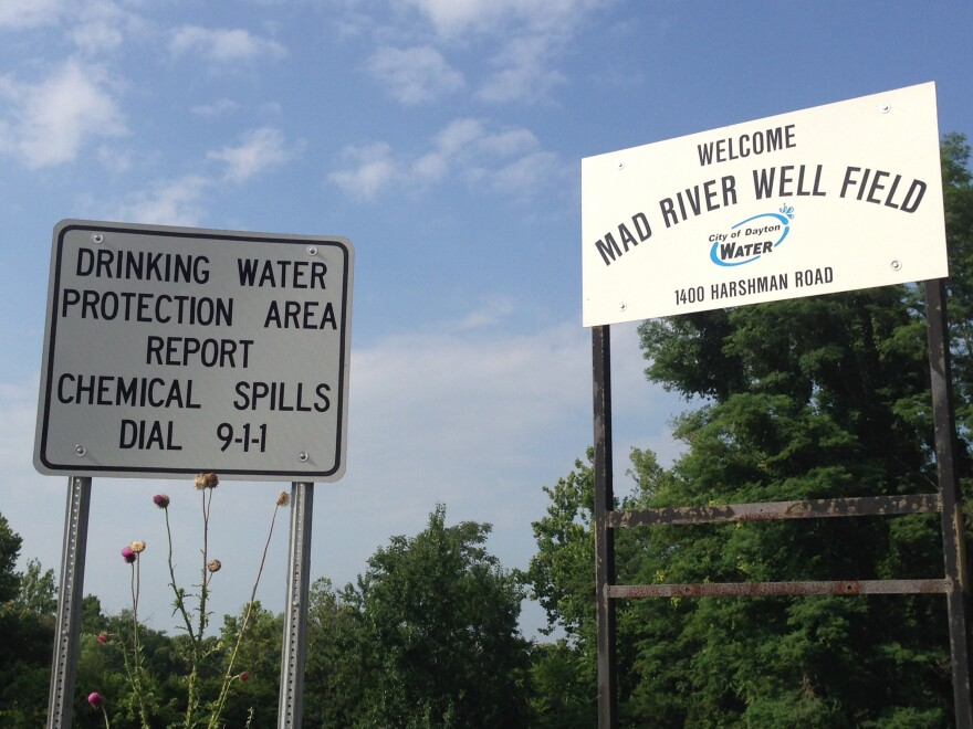 Signs around the Miami Valley demarcate the boundaries of the well fields and source water protection areas.