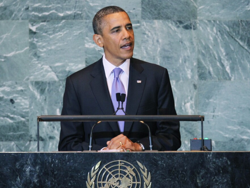 President Obama addresses the opening of the Untied Nations General Assembly on Sept. 21 in New York City.