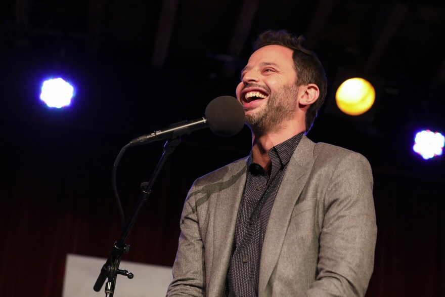 Nick Kroll appears on<em> Ask Me Another</em> at the Bell House in Brooklyn, New York.