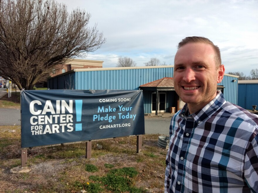 Justin Dionne is executive director of Cain Center for the Arts in Cornelius.