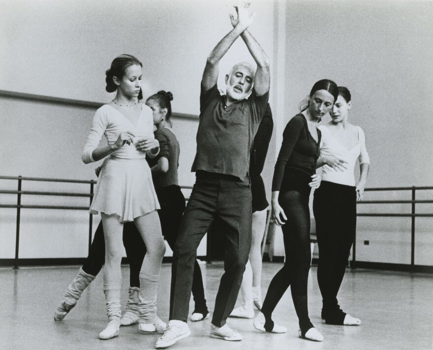 Robbins rehearses <em>The Concert </em>with Christine Redpath, left.