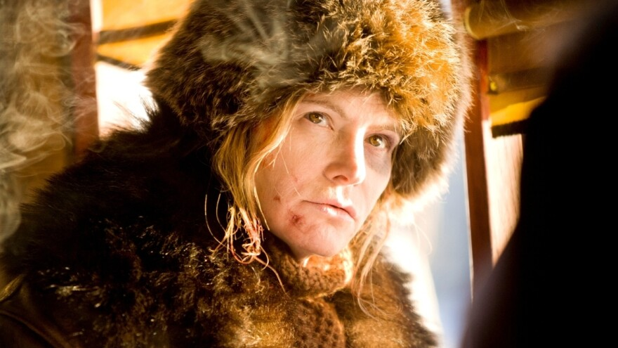 Jennifer Jason Leigh in <em>The Hateful Eight</em>.