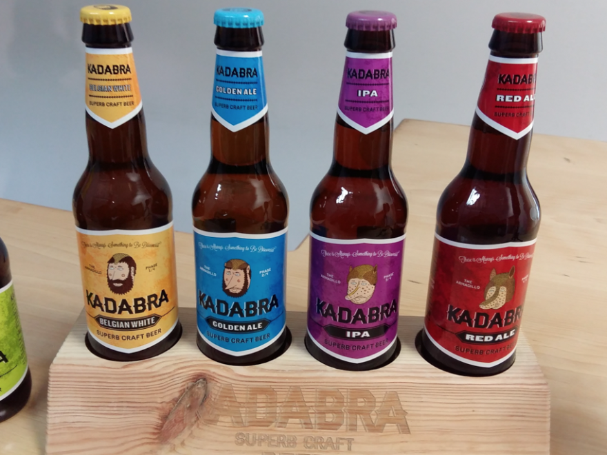 Kadabra beer, in the brewery warehouse in León, northern Spain. This brewery was founded two years ago by a group of friends who grew up in Spain's tiny hops-growing region.