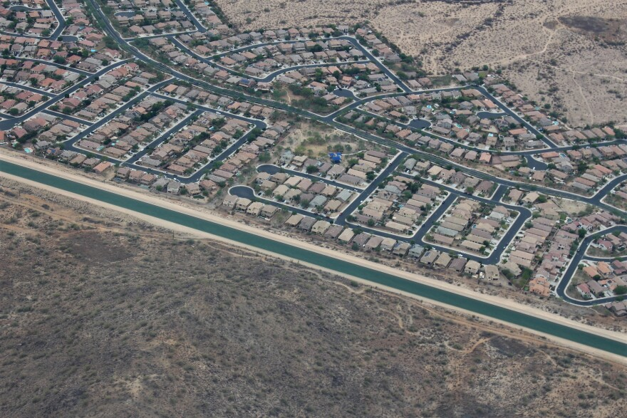 The Central Arizona Project pulls water from the Colorado River to provide for the cities of Phoenix and Tucscon.