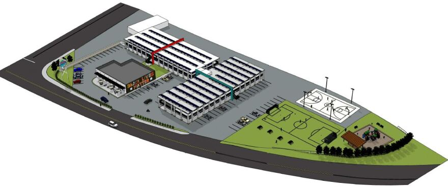 Heal Charlotte's transitional campus would include housing, a community center/cafe and sports fields.