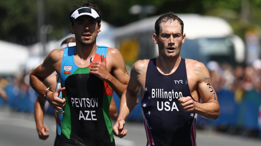 "U.S. triathlete Greg Billington competes in the Olympics in Rio on Aug. 18. He finished 37th. ""Currently nothing fills that void,"" Billington, 27, says of the post-Olympic period. He plans to seek a spot on the U.S. team in 2020."