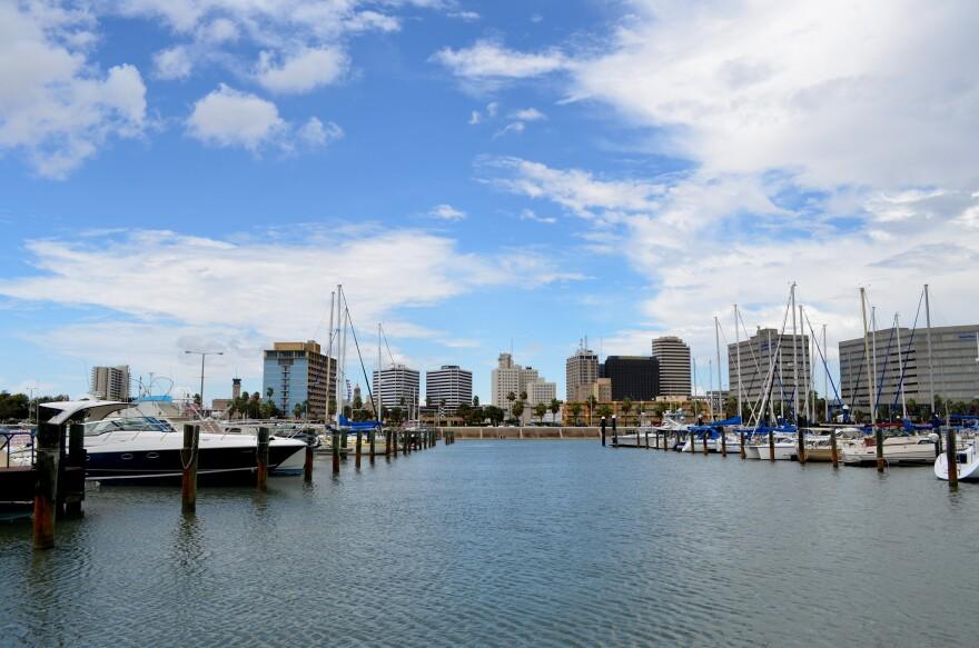 The marina in Corpus Christi in 2012.