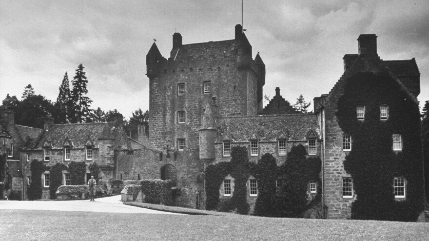 Cawdor Castle is often called Macbeth's Castle because it's the place of a murder in Shakespeare's <em>Macbeth</em>. The castle was built long after Shakespeare died. Lady Liza Campbell, who was raised at the castle, is pushing to revise the law to allow women to inherit titles and estates.