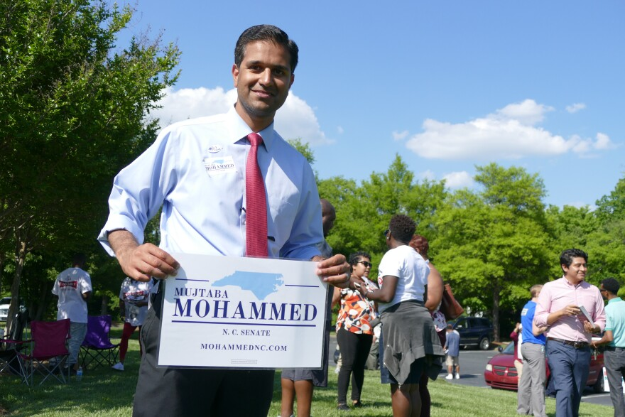 Mujtaba Mohammed canvassed for votes on Tuesday.