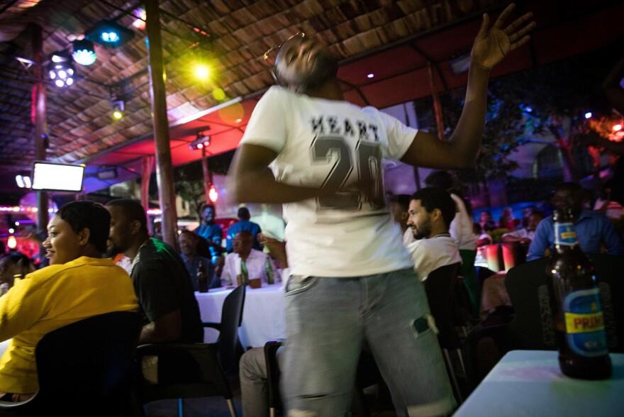 Inside the Ibiza club in Goma.