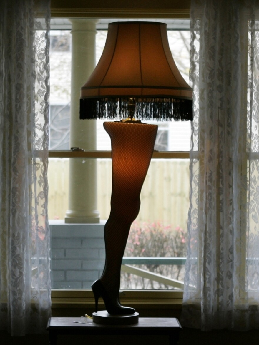 The lamp featured in <em>A Christmas Story </em>still stands in the Cleveland home used in the shooting of the classic holiday movie.