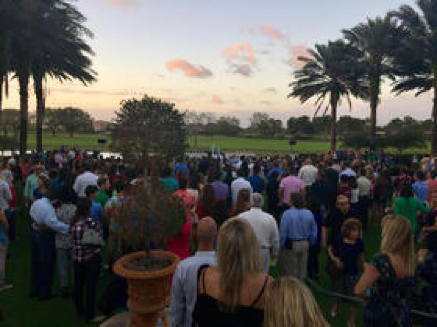 Friends and family pay tribute to Nicholas Dworet at Parkland Country Club on Feb. 21, 2018.