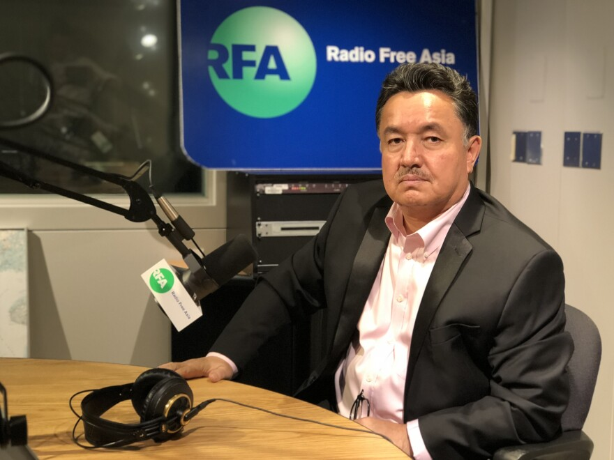 Shohret Hoshur, a journalist at Radio Free Asia who reports on news in China's Xinjiang Uighur Autonomous Region. Eight of Hoshur's family members are detained in the camps or in prison in retaliation for his work, he says, including his 78-year-old mother.