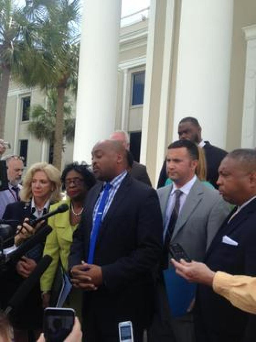 The Senate Democratic Caucus files lawsuit asking Florida Supreme Court to decide whether House departure is unconstitutional.