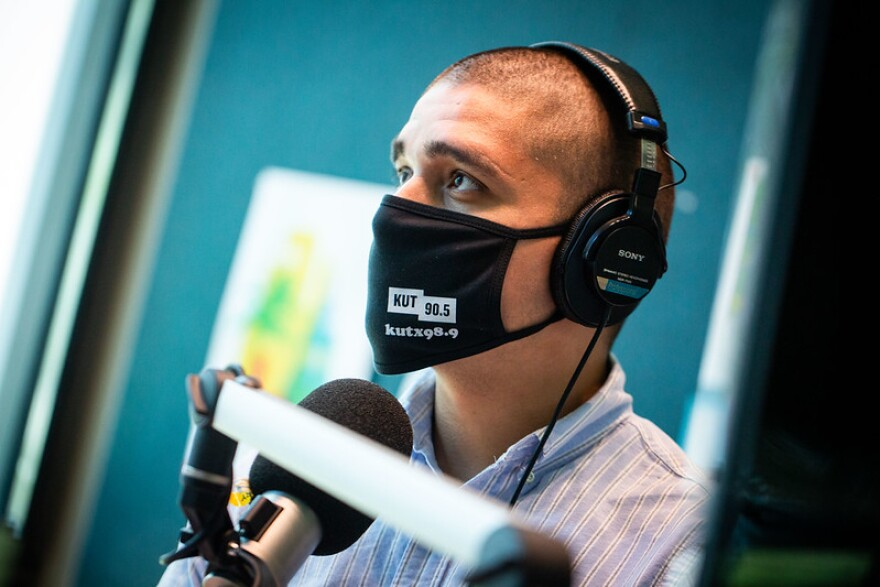 "KUT's Jerry Quijano hosts ""All Things Considered""."