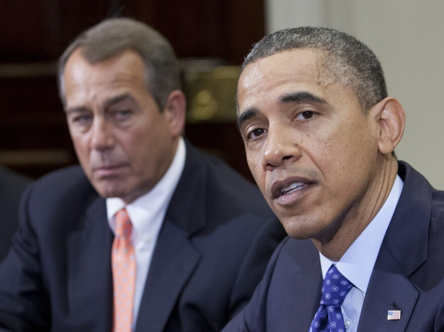 President Obama and House Speaker John Boehner, R-Ohio, at the White House last month.