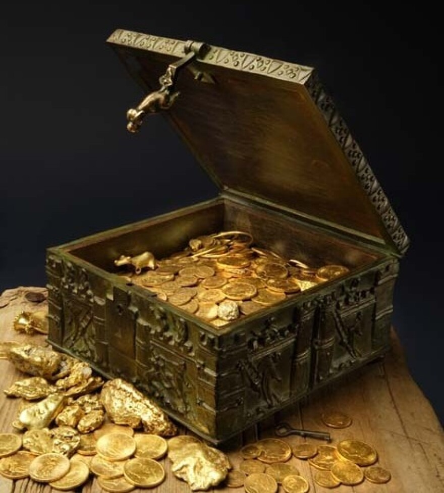 Forrest Fenn's treasure was tucked away in an ornate, heavy Romanesque box that was filled with gold nuggets, gold coins and precious gems.