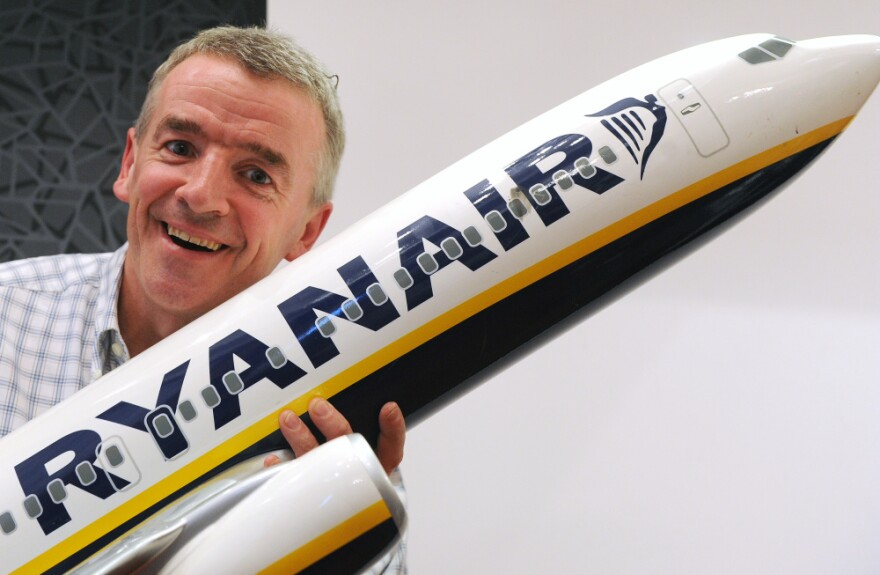 <p>President of Irish budget carrier Ryanair Michael O'Leary poses prior to a press conference in Madrid in Sept. 2011.</p>