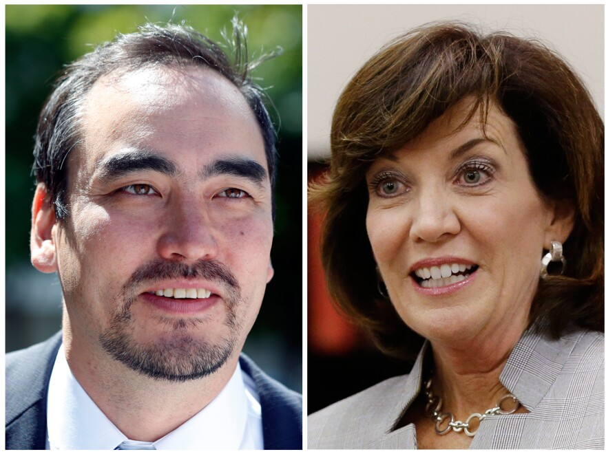 Columbia University professor Tim Wu and former Rep. Kathy Hochul are running against each other for the the lieutenant governor nomination.
