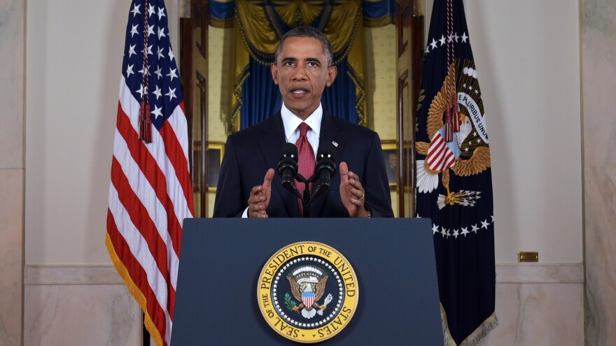 President Obama has favored narrow, limited military operations. But in his speech Wednesday evening, he outlined a broad air campaign that could target Islamic State militants in both Iraq and Syria.
