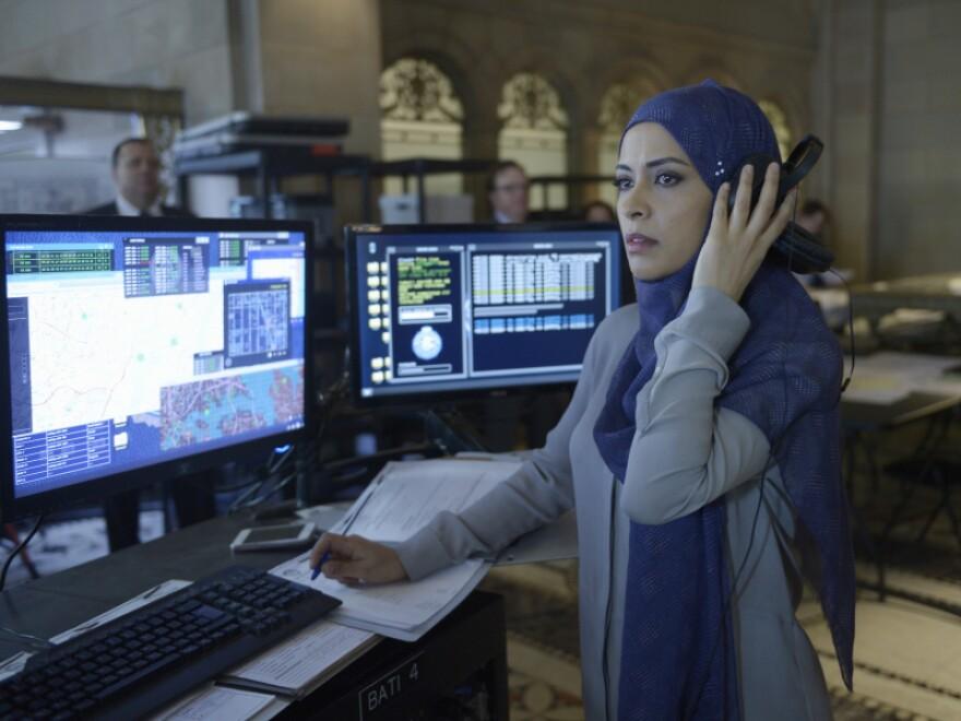 Yasmine Al Massri as Raina Amin, the hijab-wearing sister on ABC's<em> Quantico.</em>