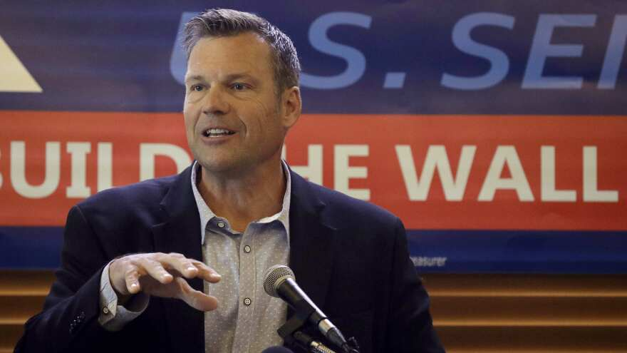 Some Washington Republicans worry that Kris Kobach, a polarizing conservative who lost a race for governor last year, would become the GOP's Senate candidate and lose in the general election.