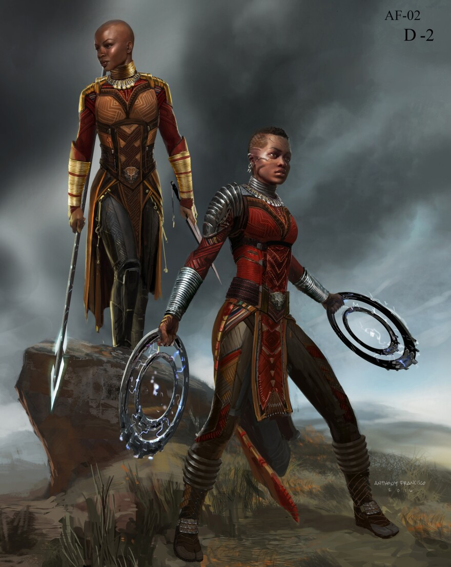The armor worn by the Dora Milaje — Wakanda's elite female guard — draws on traditions from Kenya, South Africa and Namibia.