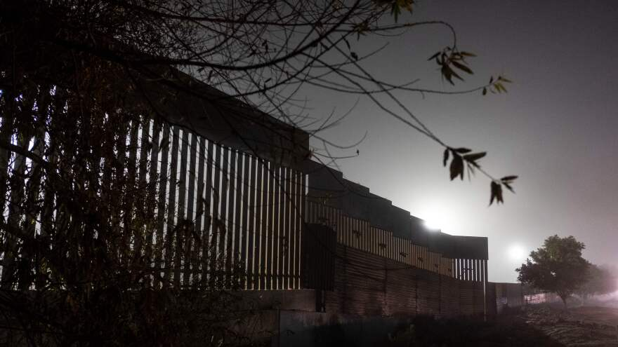 A reinforced section of the U.S.-Mexico border fence is seen from Tijuana, Mexico. President Trump seems to be flexible on the materials that would be used, as he has reportedly talked about steel slats and even tweeted a cartoonlike rendering of such an idea.