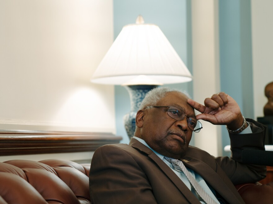 Clyburn dismisses recent attacks aimed at undercutting black support for Joe Biden, specifically his role in passing the 1994 crime bill.