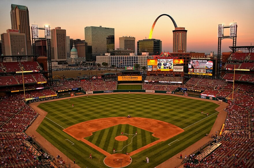 Busch Stadium, home of the St. Louis Cardinals, is located in the heart of downtown.