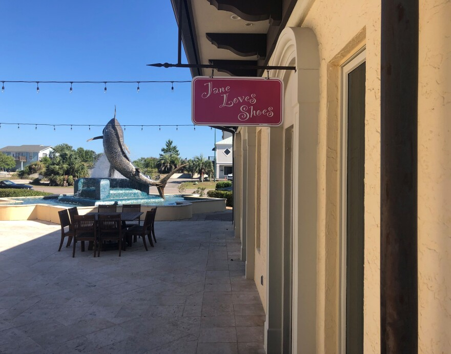 The women's boutique Jane Loves Shoes in Orange Beach, Ala., has been closed for more than a month because of the state's stay-at-home order closing most retail stores to slow the spread of coronavirus.