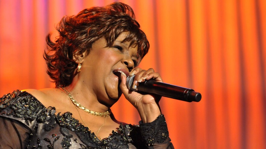 Reverend Shirley Ceasar performs during the 2008 MusiCares Person of the Year concert honoring Aretha Franklin.